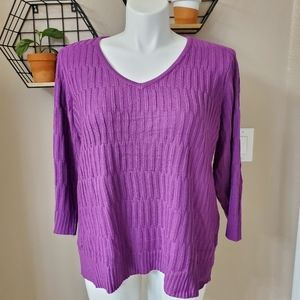 ❣NWT Design History 3/4 Sleeve Sweater - Size XL